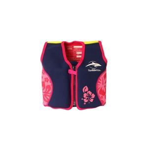 Konfidence Jacket Schwimmweste Navy/Pink Hibiscus 4 - 5 Jahre
