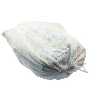 Blümchen Wäschenetz mit Kordelzug - Weiß