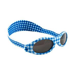 KidzBanz Kindersonnenbrille 100% UV-Schutz 2-5Jahre Check Lightblue...
