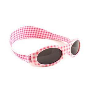BabyBanz Babysonnenbrille 100% UV-Schutz 0-2Jahre Check Pink...