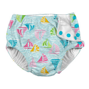 Iplay Swim Diaper Badewindel Schwimmwindel Light Aqua Sailboat Sea...