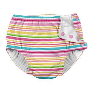 Iplay Swim Diaper Badewindel Schwimmwindel Pink Multistripe L...