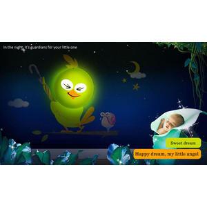 JP4Kids V2 LED Nachtlicht + Wandsticker mit Lichtsensor Golfing...