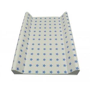 ASMi 2-Keil Wickelmulde Sterne Seidenblau 50x70 cm Öko Tex