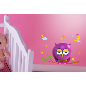JP4Kids V2 LED Nachtlicht + Wandsticker mit Lichtsensor Angel Owl Eule