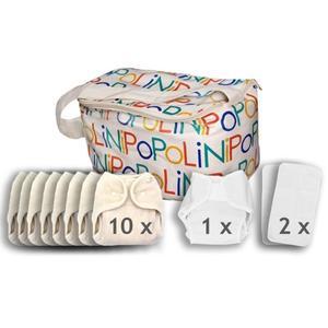 Popolini One Size Soft Set kba Komplettset Stoffwindeln 3-15kg...