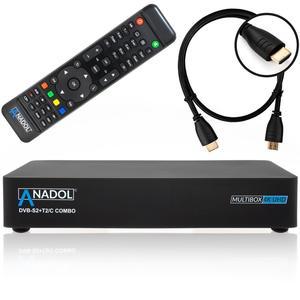 Anadol MULTIBOX 4K UHD E2 Linux Sat Receiver mit DVB-S2, DVB-C oder DVB-T2 Tuner inkl. WLAN Stick