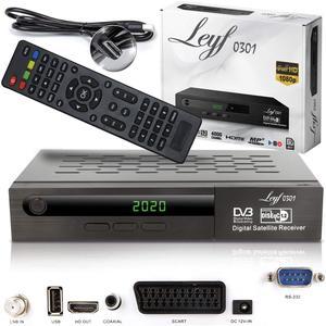 Leyf-0301 Sat Receiver PVR Aufnahmefunktion Digitaler Satelliten Receiver- (HDTV, DVB-S /DVB-S2, HDMI, SCART , 2X USB , Full HD 1080p ) [Vorprogrammiert für Astra, Hotbird und Türksat] + HDMI Kabel