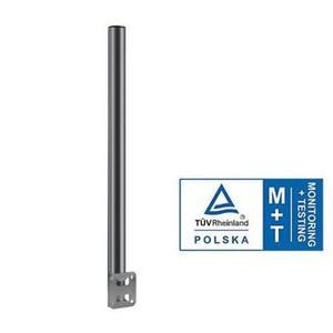 Mast für Geländer | Stahl verzinkt | 80cm lang Ø50mm | mit 2 Schellen 60mm