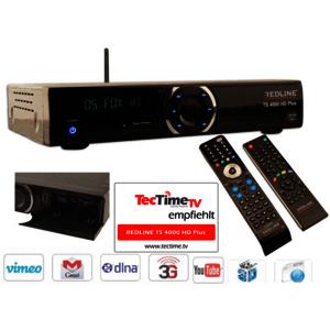Redline TS 4000 HD Plus Sat Receiver mit Kartenleser und Wlan Wifi Funktion Full HD