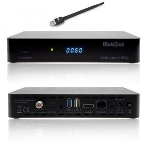 Mut@nt 4K Sat Receiver HD60 1x DVB-S2X inkl. WLAN Stick