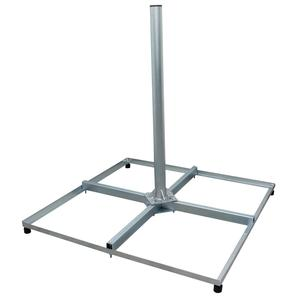 PROFI Sat Balkonständer 4x 50x50cm Stahl 1m Mast 60mm für Satellitenschüssel Flachdachständer