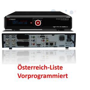 OCTAGON SF2028 Twin HD 3D OPTIMA schwarz 2xDVB-S2 Twin Sat Receiver mit Kartenleser & Modul CI Slot Österreich Liste Vorprogrammiert