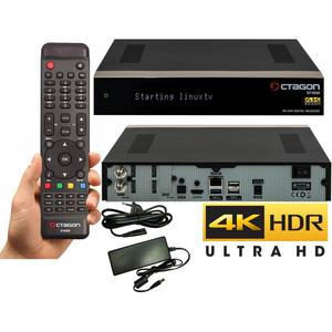 Octagon SF4008 Receiver Triple 4K 1x DVB-S2X Dual Tuner