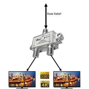 Sat-Verteiler, Y-Splitter, Antennenverteiler, Koax, TV 2-way Spliter HD 4K 3D