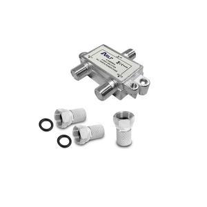 HD Sat Splitter 2 fach Verteiler Stecker 5-2400MHz Digital Kabel F Buchse 2fach