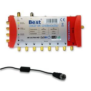 Multischalter 5/8 HD Sat Multiswitch digital 1 Sat 8 Teilnehmer UHD 4K Switch