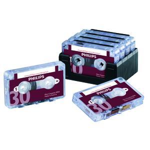 Philips Minikassetten (2 x 15 Min. für Pocket Memos, 10 Stück Packung)