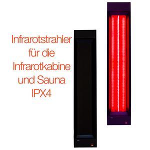 Infrarotstrahler 750W für die Infrarotkabine oder Sauna, Vollspektrumstrahler zum Nachrüsten für die Wärmekabine oder Selberbauen einer Sauna, IPX 4, spritzwassergeschützt