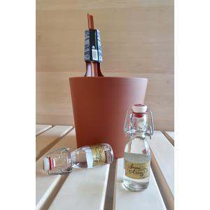 Geschenkset ROST: Saunaeimer & Saunaaufgüsse; Geschenk für Saunafans, Saunakübel von Rento, Saunadüfte für den Aufguss