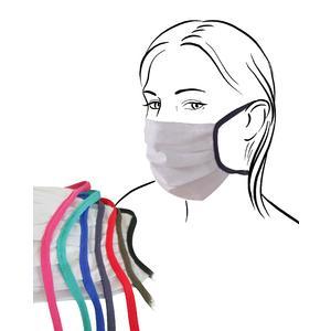 Mund-Nasen-Schutz WEISS / ROT, auch zum Selbergestalten mit Nasenbügel für Erwachsene, Kinder und Jugendliche, Baumwolle mit Silberionen, wiederverwendbar, Mund-Nasen-Bedeckung