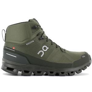 ON Running Cloudrock Waterproof - Herren Outdoor Mid-Cut Schuhe Grün 23.99615