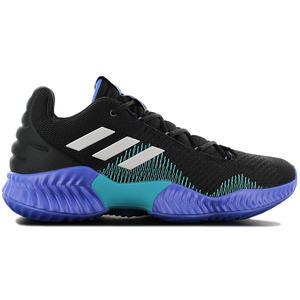 adidas Pro Bounce 2018 PB Low - Herren Basketballschuhe Schwarz Blau AC7427