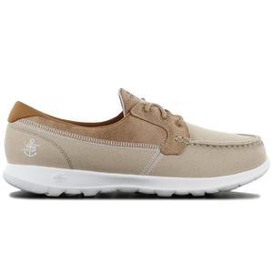 Skechers GOwalk Lite Coral - Damen Bootsschuhe Beige 15430-NAT