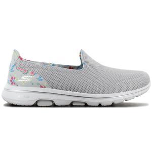 Skechers GOwalk 5 Flowery - Damen Schuhe Grau 124004-GYMT