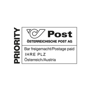 Poststempel Bar freigemacht Priority 3752 Walkenstein