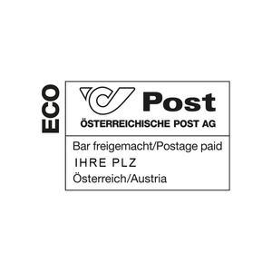 Poststempel Bar freigemacht ECO 1200 Wien