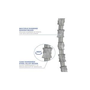 Yaktrax Diamond Grip Schneeketten Schuhketten für Schuhe und Stiefel, Größe 38-40