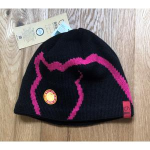 MERINO BEANIE Wintermütze mit Fleece BRBL Firewood BLACK/FUCHSIA