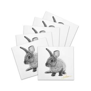 """5+1 Karten """"Kaninchen"""" - Kunstdruck"""