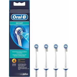 Oral-B OxyJet Ersatz-Aufsteckdüsen für eine gezielte Reinigung mit innovativer Mikro-Luftblasen-Technologie (4er Pack)