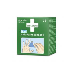 Selbsthaftendes Pflaster Cederroth Soft Foam Bandage Blue 2m