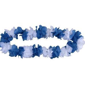 Blumenkette blau/weiß