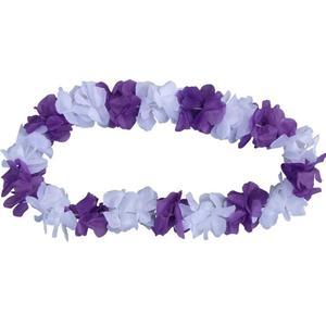Blumenkette violett/weiß