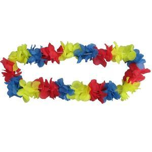 Blumenkette rot/gelb/blau