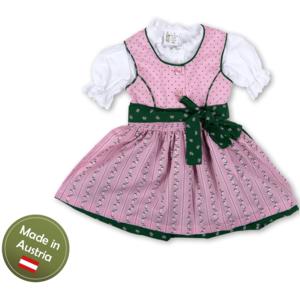 Dirndl mit Bluse und Schürze Mädchen Baby Kinder Grün Rosa