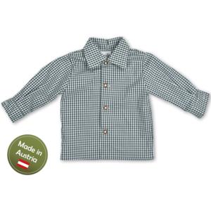 Trachten Hemd Karo Baby Buben Kinder Grün