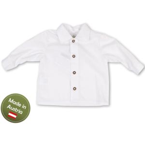 Trachten Hemd Baby Buben Kinder Weiß