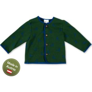 Trachten Jacke mit Hirschen Baby Buben Kinder Weste Grün Blau