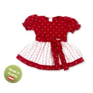 Kleid Dirndl Tracht Mädchen Baby Kinder Weiß Rot