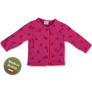 Trachten Jacke mit Hirschen Baby Mädchen Pink
