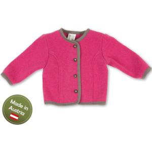 Trachten Jacke Baby Mädchen Kinder Strick Weste Pink Grau