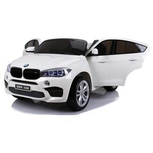 Kinderfahrzeug BMW X6M 12V Kinder Elektro Auto Kinderauto Kinderfahrzeuge MP3 USB Ledersitz EVA Gummiräder 2,4 GHZ weiß