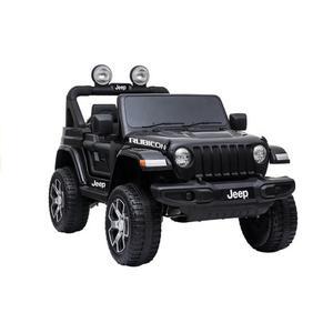 Kinderfahrzeug 12V Kinderelektro Auto Kinderauto Jeep Wrangler Rubicon Geländeauto 4WD Allrad USB EVA Gummiräder Ledersitz