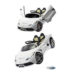 Kinderfahrzeug 12V Kinder Elektro Auto mit Flügeltüren Air Condition Kinderauto Kinderfahrzeuge EVA Gummiräder MP3 USB Ledersitz 2,4 GHZ