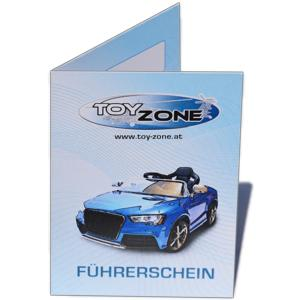 KFZ Kinderführerschein für Kinderfahrzeuge Führerschein personalisiert